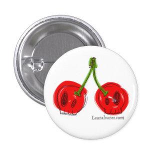 skull cherries pin