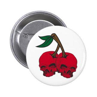 Skull Cherries Button