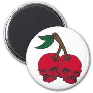 Skull Cherries Fridge Magnet