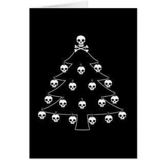 Goth Skull Christmas Tree Gifts on Zazzle