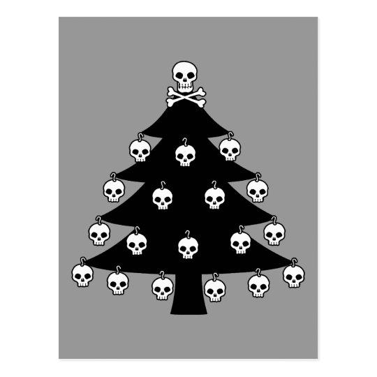 Skull Christmas Tree Postcard
