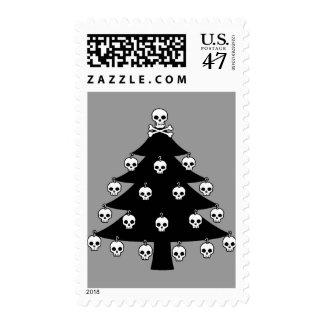 Skull Christmas Tree Stamp