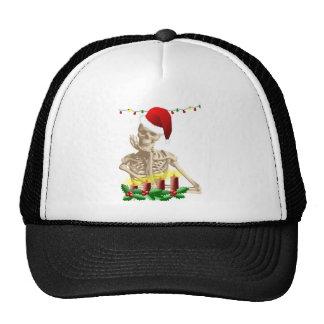 skull christmas trucker hat