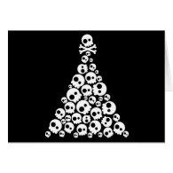 Skull Christsmas Tree Greeting Card