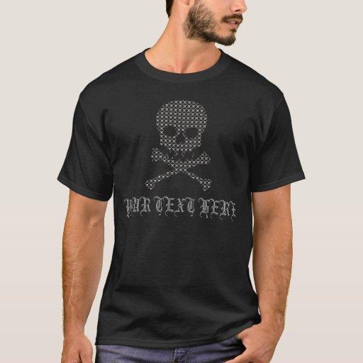 Skull Chrome Mesh Pattern Template Cool Design T-Shirt