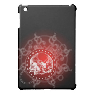Skull Circle of Death Flare Red iPad Mini Covers
