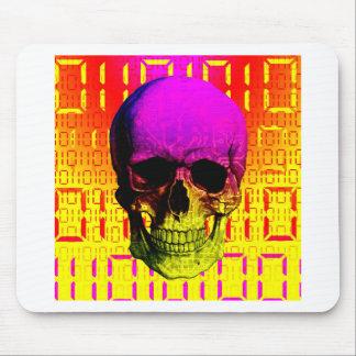 Skull circuit in a digital code. mouse pad