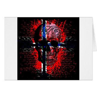 Skull circuit (norway-flag) card
