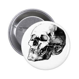 Skull Classic Button
