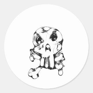 Skull Classic Round Sticker