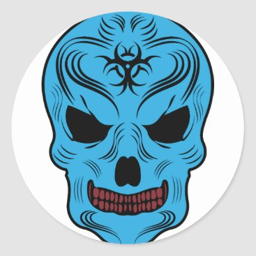 Halloween Themed Skull Classic Round Sticker