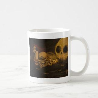 skull classic white coffee mug