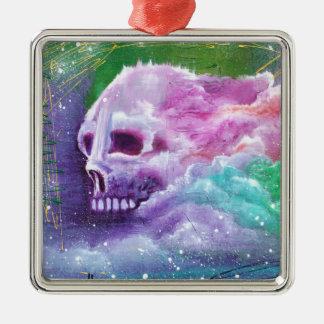 Skull Cloud Metal Ornament