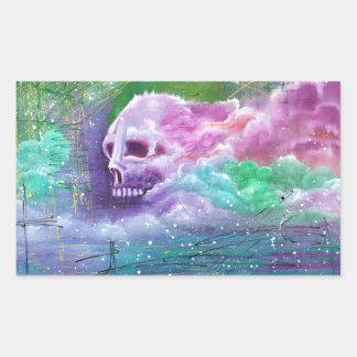 Skull Cloud Rectangular Sticker