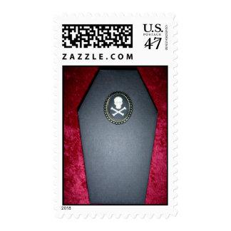 skull coffin stamp
