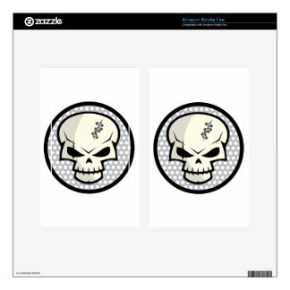 SKULL-COIN DECAL FOR KINDLE FIRE