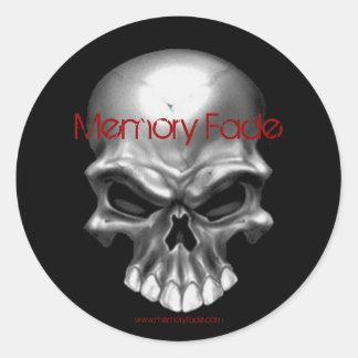 skull collection, Memory Fade, $5.00 Classic Round Sticker