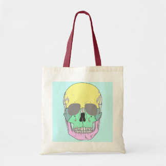 SKULL (COLORFUL POP ART STYLE) Tote Bag