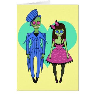 Skull Couple Card