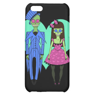 Skull Couple Cover For iPhone 5C
