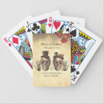 """Skull Couple Day of Dead Wedding Bicycle Playing Cards<br><div class=""""desc"""">Skull couple wedding playing cards</div>"""