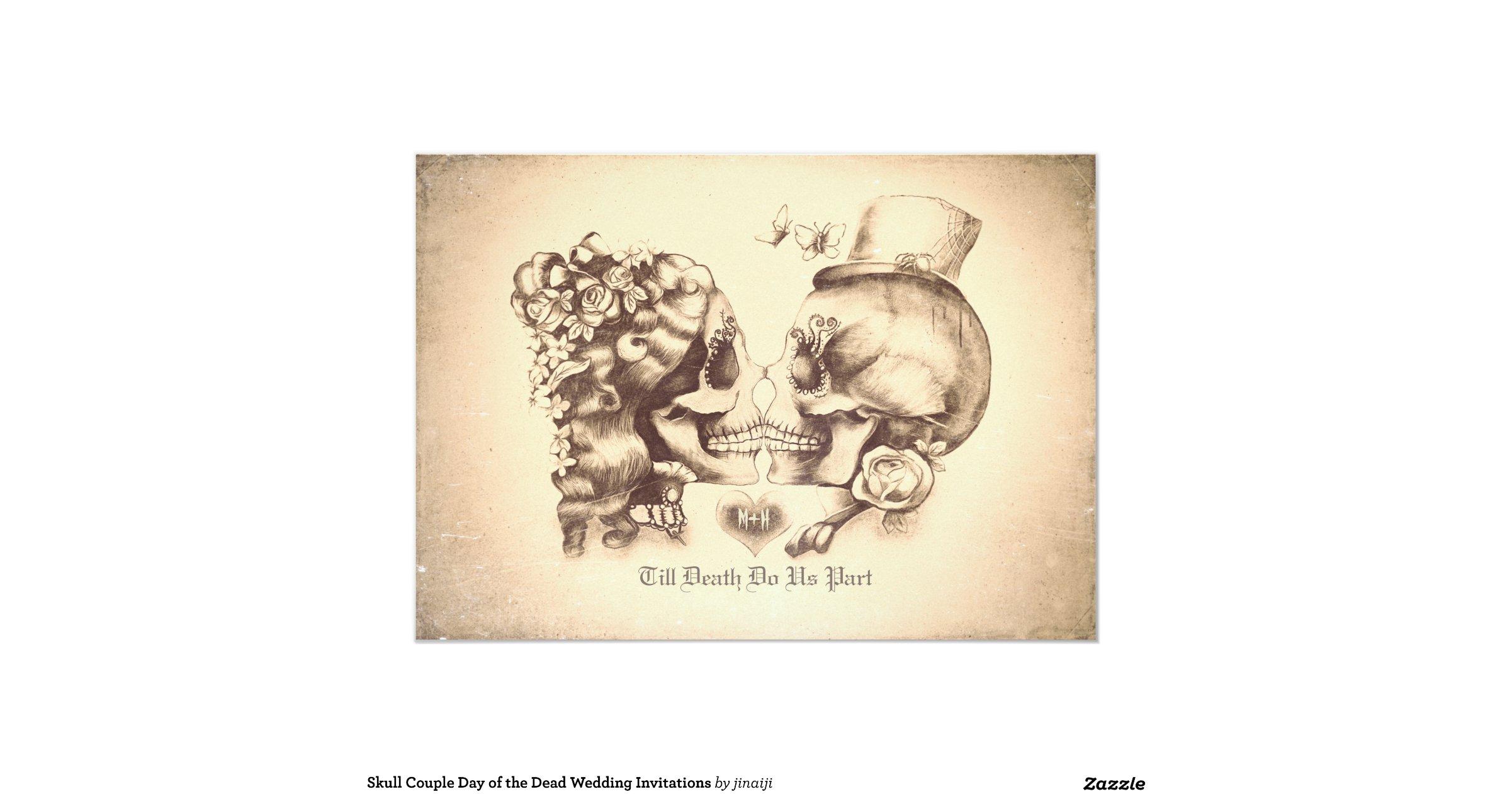 dia de los muertos wedding invitation design skull wedding invitations Wedding Invitation Design
