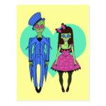 Skull Couple Post Card