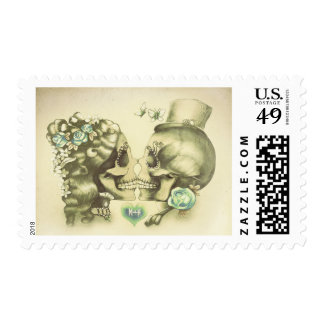 Skull Couple Postage Stamps