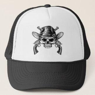 Skull Cowboy and Guns Trucker Hat