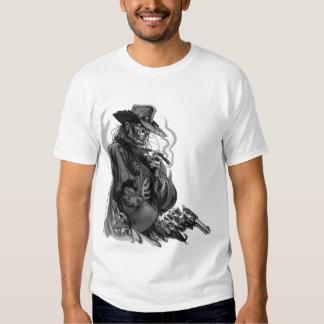 skull cowboy gun T-Shirt