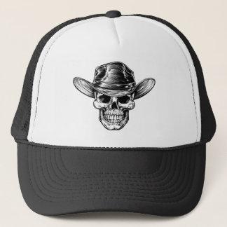Skull Cowboy Hat Drawing