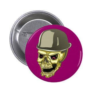 Skull cráneo calavera sombrero tiene pin redondo de 2 pulgadas