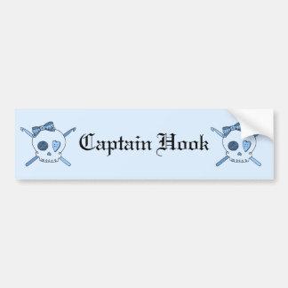Skull & Crochet Hooks (Baby Blue Background) Bumper Sticker