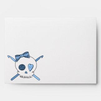 Skull & Crochet Hooks (Baby Blue Background) Envelope