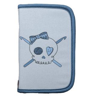 Skull & Crochet Hooks (Baby Blue Background) Organizers