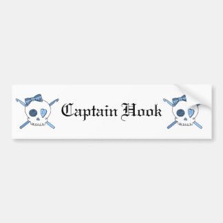 Skull & Crochet Hooks (Baby Blue) Bumper Sticker
