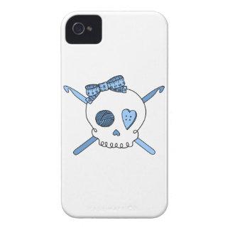 Skull & Crochet Hooks (Baby Blue) Case-Mate iPhone 4 Case