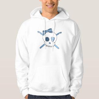 Skull & Crochet Hooks (Baby Blue) Hoodie