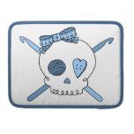 Skull & Crochet Hooks (Baby Blue) Sleeves For MacBook Pro
