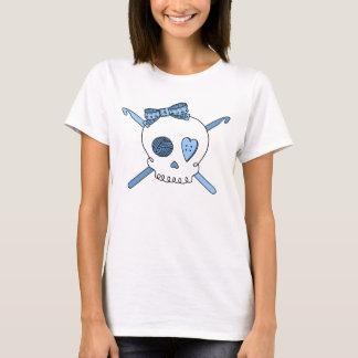 Skull & Crochet Hooks (Baby Blue) T-Shirt