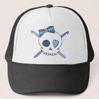 Skull & Crochet Hooks (Baby Blue) Trucker Hat