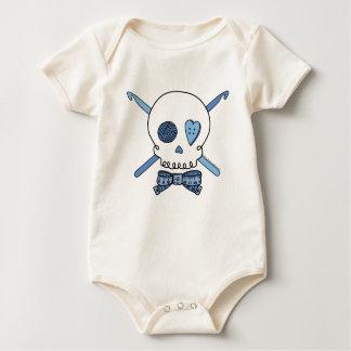 Skull & Crochet Hooks (Blue) Baby Bodysuit