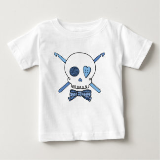Skull & Crochet Hooks (Blue) Baby T-Shirt