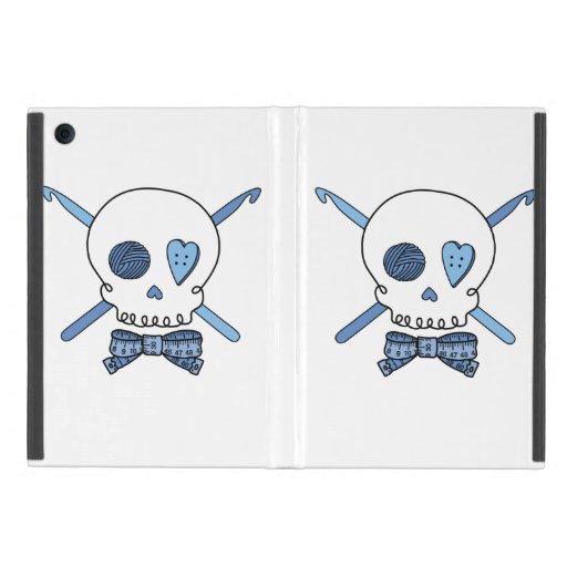 Skull & Crochet Hooks (Blue) Cases For iPad Mini