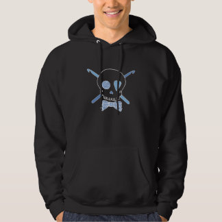 Skull & Crochet Hooks (Blue - Dark Version) Hoodie