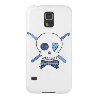 Skull & Crochet Hooks (Blue) Galaxy S5 Case