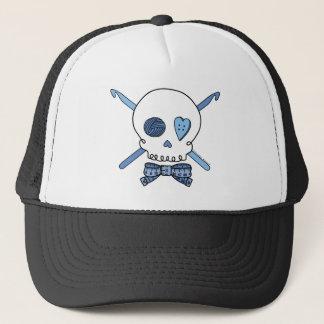 Skull & Crochet Hooks (Blue) Trucker Hat