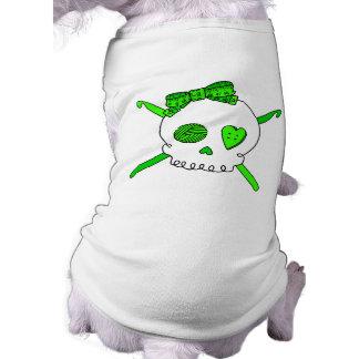 Skull & Crochet Hooks (Lime Green) Shirt