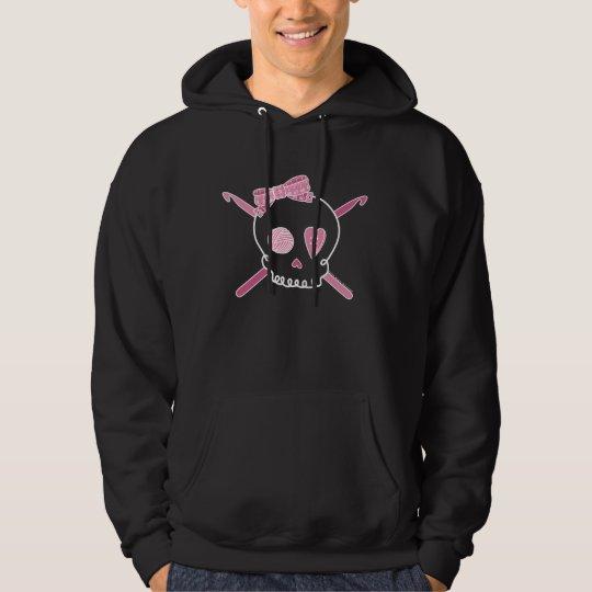 Skull & Crochet Hooks (Pink - Dark Version) Hoodie