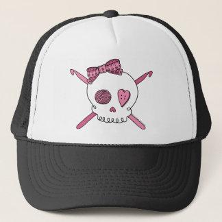 Skull & Crochet Hooks (Pink) Trucker Hat